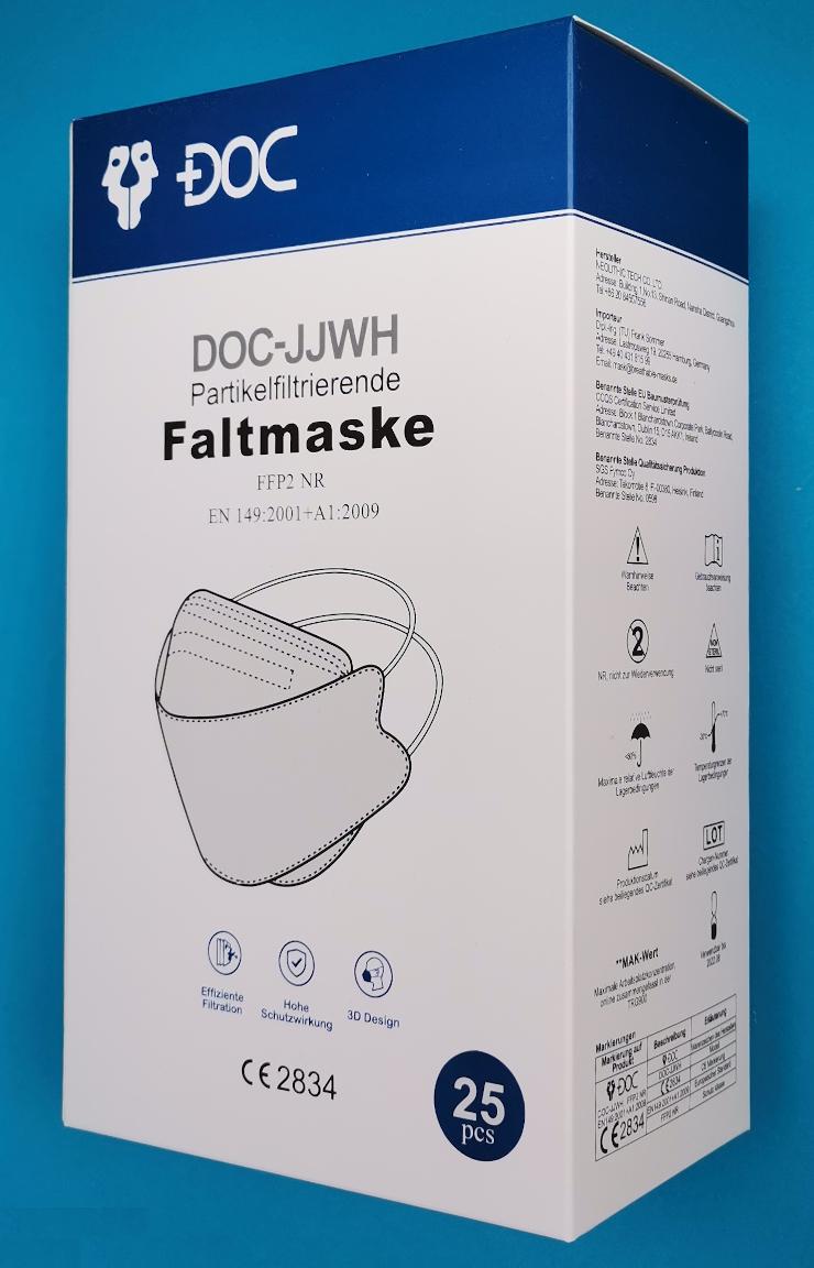 FFP2 Maske 3D-Form mit Kopfbändern