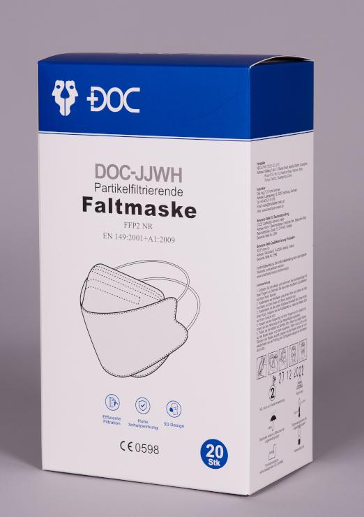 DOC-JJWH FFP2 Maske mit Kopfand