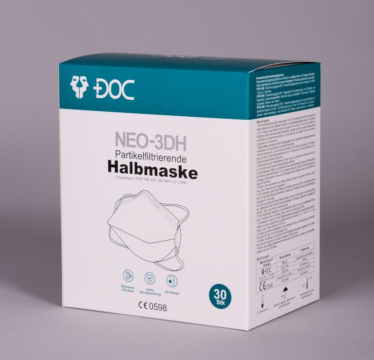 NEO-3DH FFP3 Maske mit Kopfband
